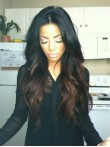 Hot Seller Celebrity Inspired Long Wavy Ombre Full Lace Human Hair Wig