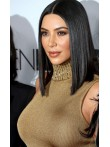 Kim K Inspired Straight Sleek Bob Full Lace Human Hair Wig - ces1045