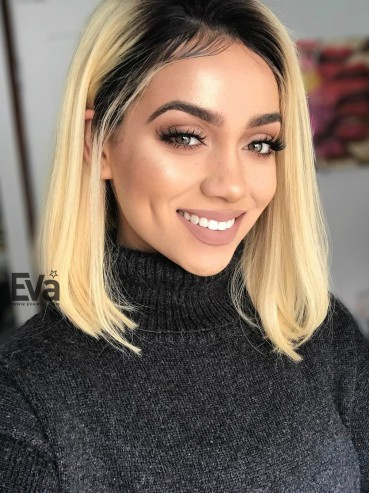 Myesha - Blonde Ombre Summer Shinning Bob Virgin Human Hair Full Lace Wig