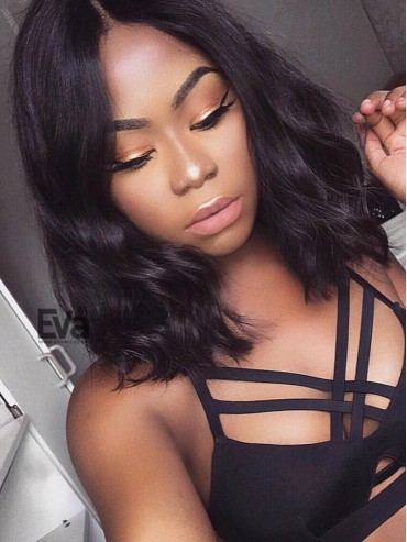 Brenda - Center Part Fashion Wavy Lob Lace Front Virgin Human Hair Wig