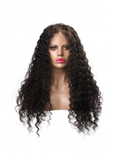 New Curly Glueless Full Lace Virgin Human Hair Wig