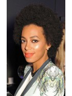 Solange Knowles Cannes 2013 Short Afro Curly Custom Full Lace Human Hair Wig