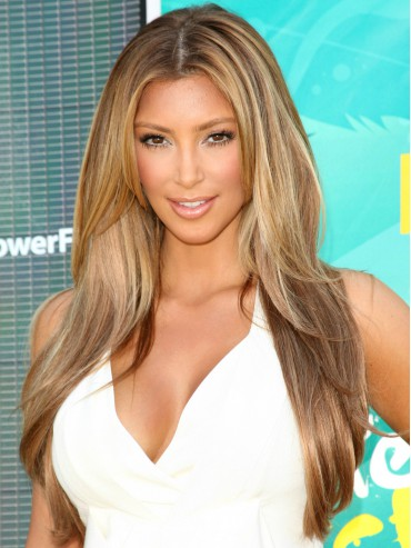 Kim Kardashian Layered Straight Custom Full Lace Human Hair Wig