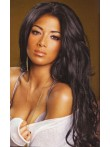 Nicole Scherzinger Hot Long Wavy Custom Full Lace Human Hair Wig