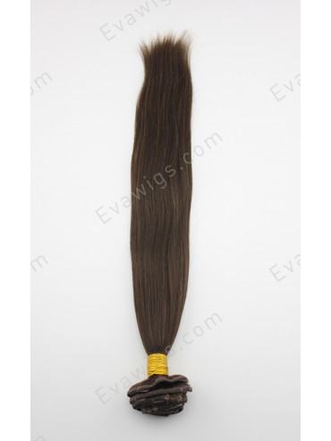 Medium Dark Brown 8 pcs Indian Remy Clip In Hair Extensions