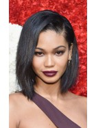 In Stock Yaki Straight Short Bob Chanel Iman Inspired Human Hair Full Lace Wig