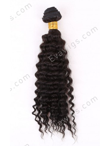 Curly Indian Virgin Human Hair Weft