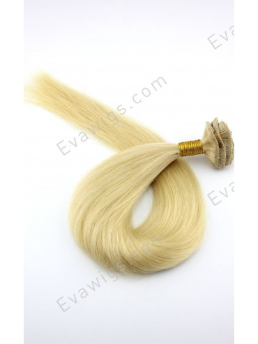 Blonde #613 Clip In 100% Virgin Human Hair Extension
