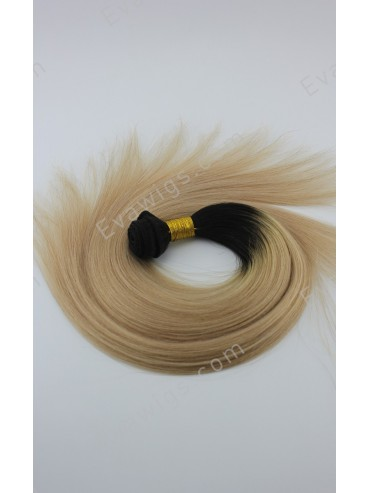 #1B T #14 Yaki Straight Indian Remy Human Hair Clip In Hair Extension