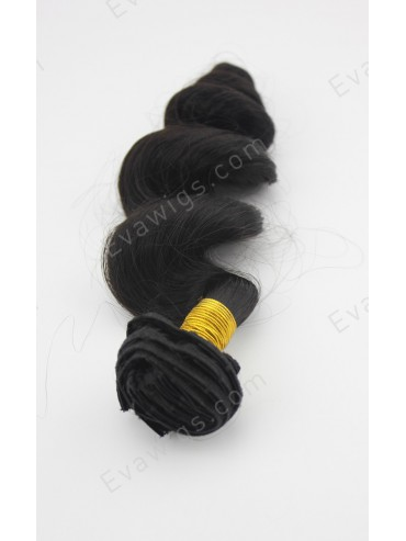 100% Indian Remy Human Hair Bouncy loose Wave Clip in Hair Extension