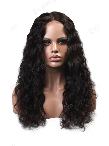 Long Deep Wavy Soft and Fluffy Full Lace Virgin Human Hair Wig