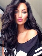 Natalie Halcro Inspired Big Wave Long Hair Fashion Style Full Lace Human Hair Wig CEW0319