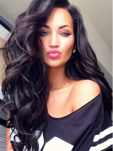 Big Wave Long Hair Fashion Style Full Lace Human Hair Wig CEW0319
