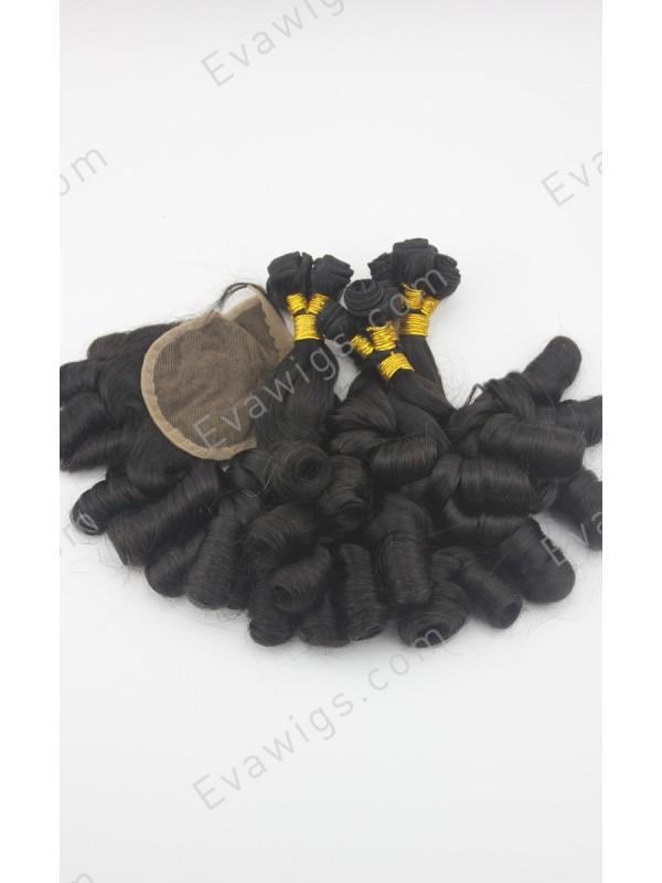 3 Bundles Of Hair With Closure 93