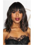 In Stock Wavy Bob with Light Blunt Bangs Inspired By Kerry