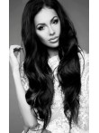 Long Silky Wavy Indian Remy Human Hair Lace Front Wig