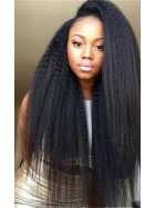 [In Stock] Kinky Straight 100% Premium Human Hair Lace Front Wig