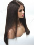 "[Custom Lace Front] 3""-6"" Hair Part Line Lace Front Human Hair Yaki Straight Wig"