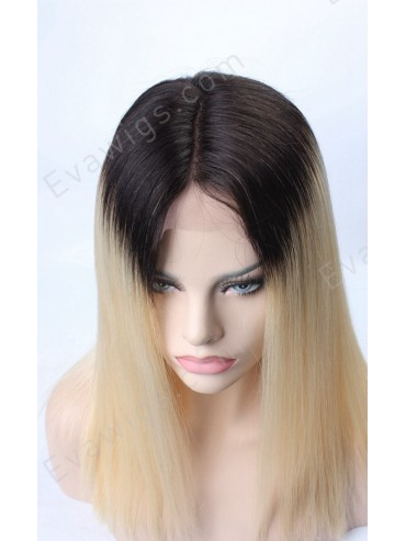 [Custom] Ombre Color Straight Lace Front Human Hair Wig