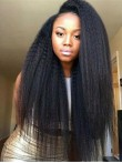 "[Custom Lace Front] 3""-6"" Hair Part Line Lace Front Human Hair Kinky Straight Wig - LF-C-991"