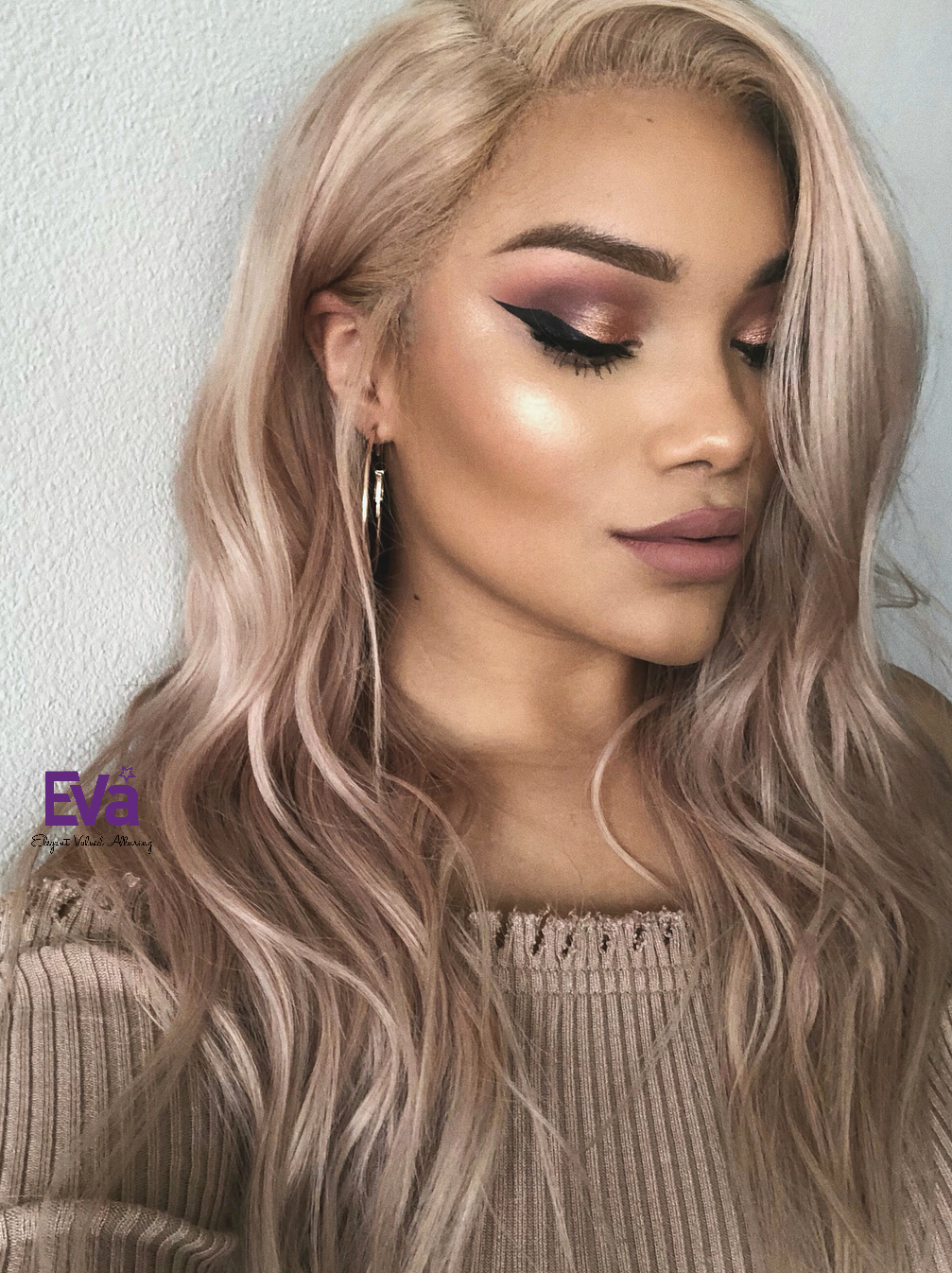 Custom Color Ash Blonde Full Lace Human Hair Wig Human