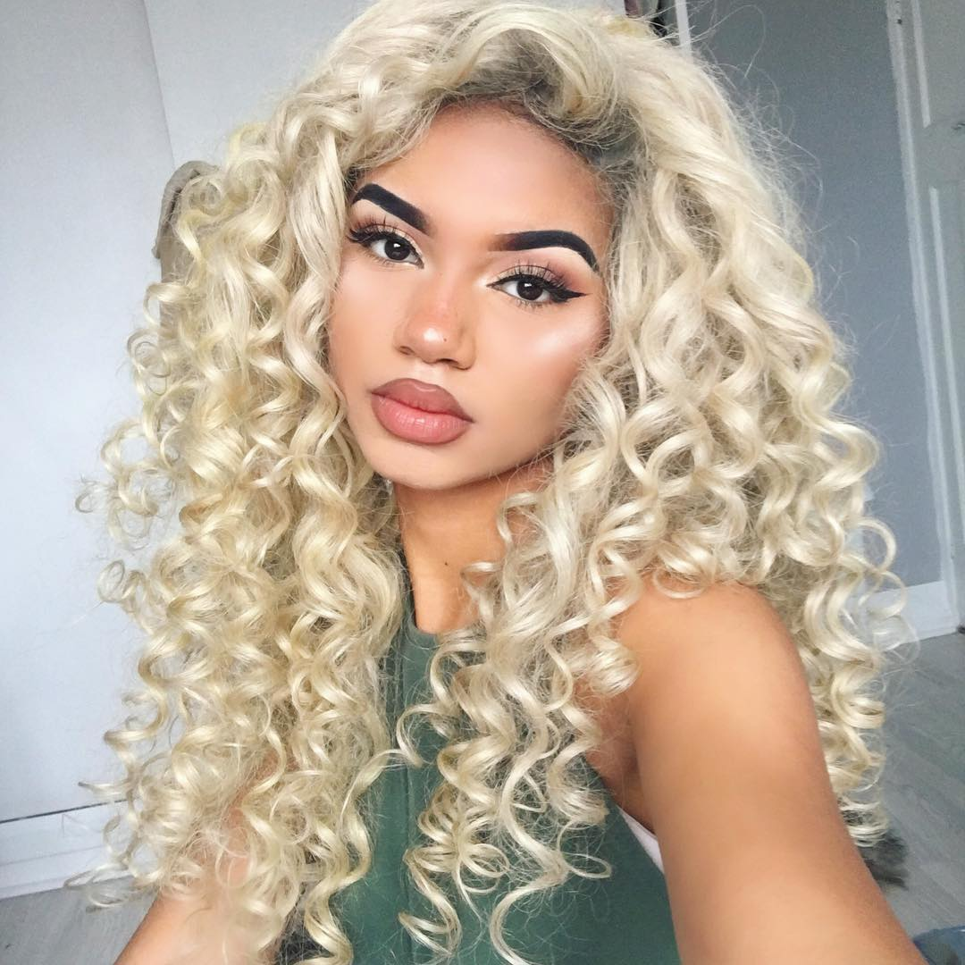 Platinum Blonde Full Lace Virgin Human Hair Wig 16 Quot 26