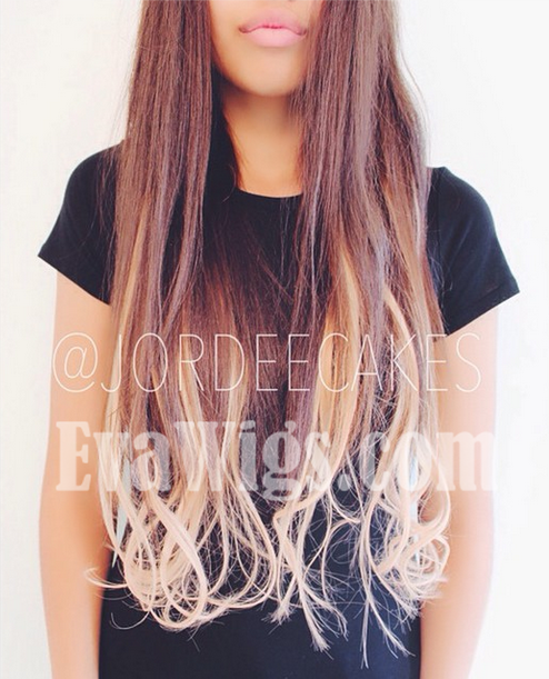 #3 Medium Dark Brown T #12 Light Golden Brown Indian Virgin Human Hair Clip  in Hair Extension