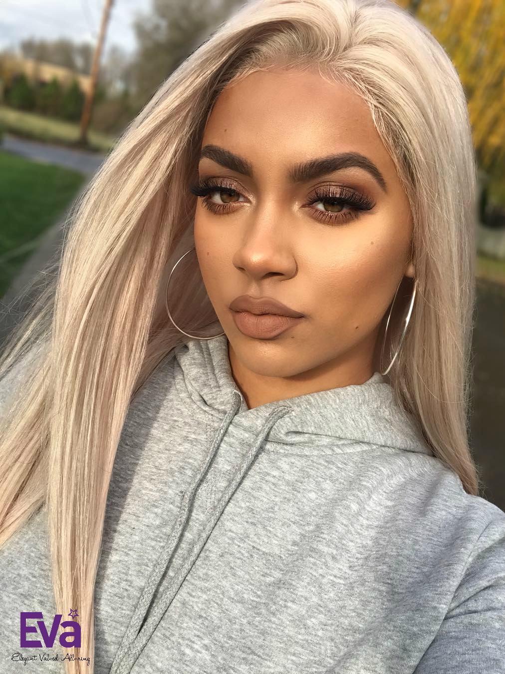 Custom Platinum Blonde Full Lace Virgin Human Hair Wig ...