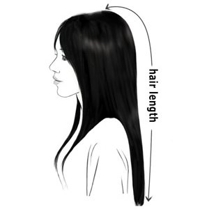 measure your own hair length