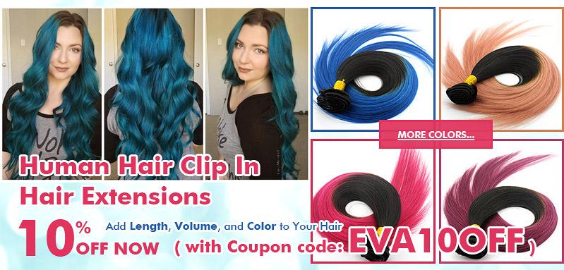 Colorful Clip Ins