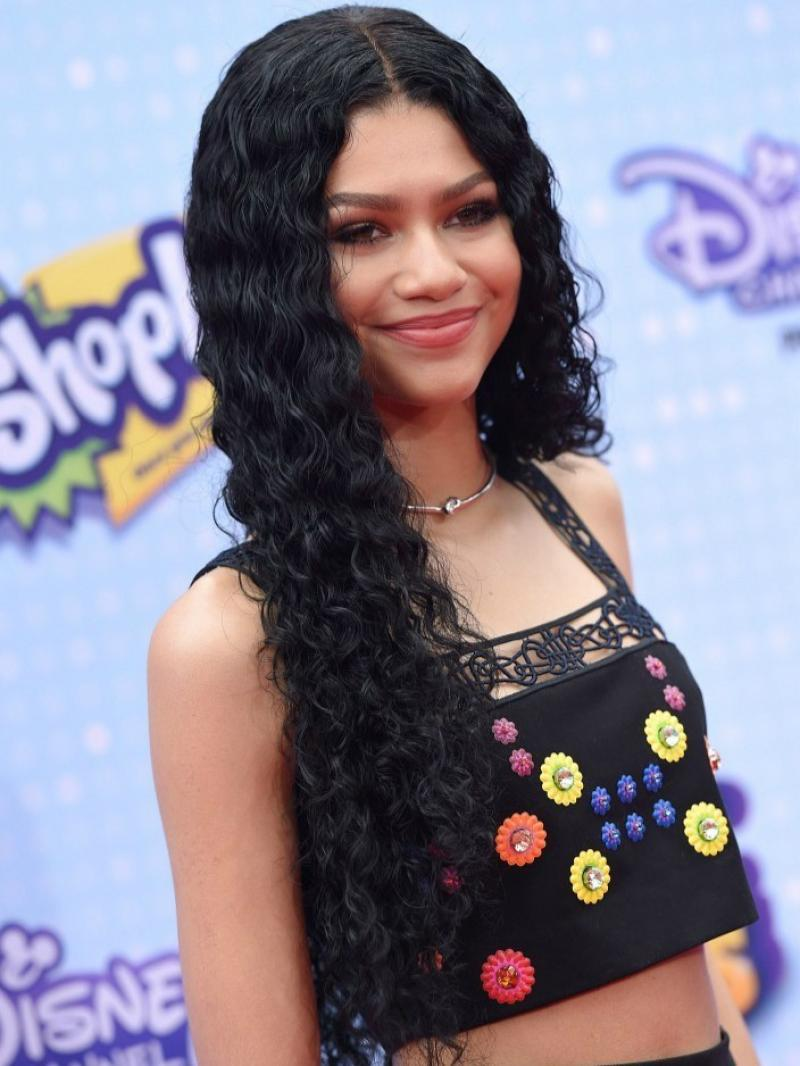 Custom Lace Front  Zendaya Inspired Long Brazilian Deep Wave Lace Front  Human Hair Wig 0c8744d48d81