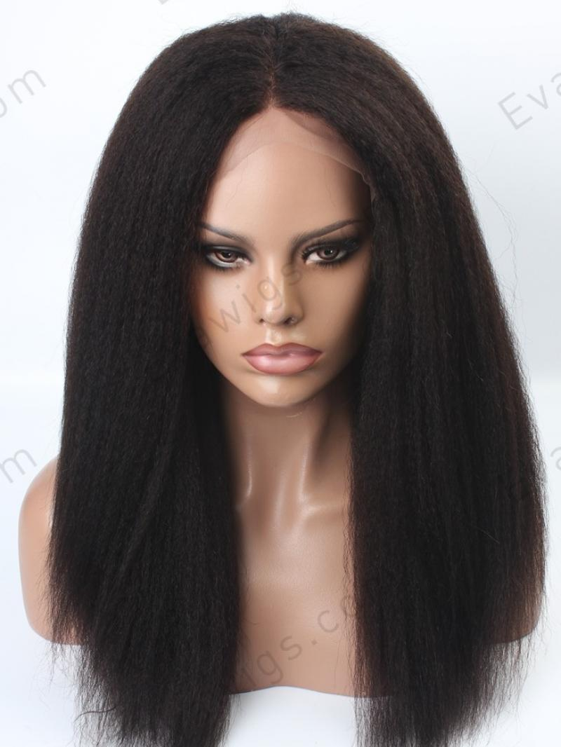 [stock Lace Front] Italian Yaki Long Straight Lace Front Human Hair Wig