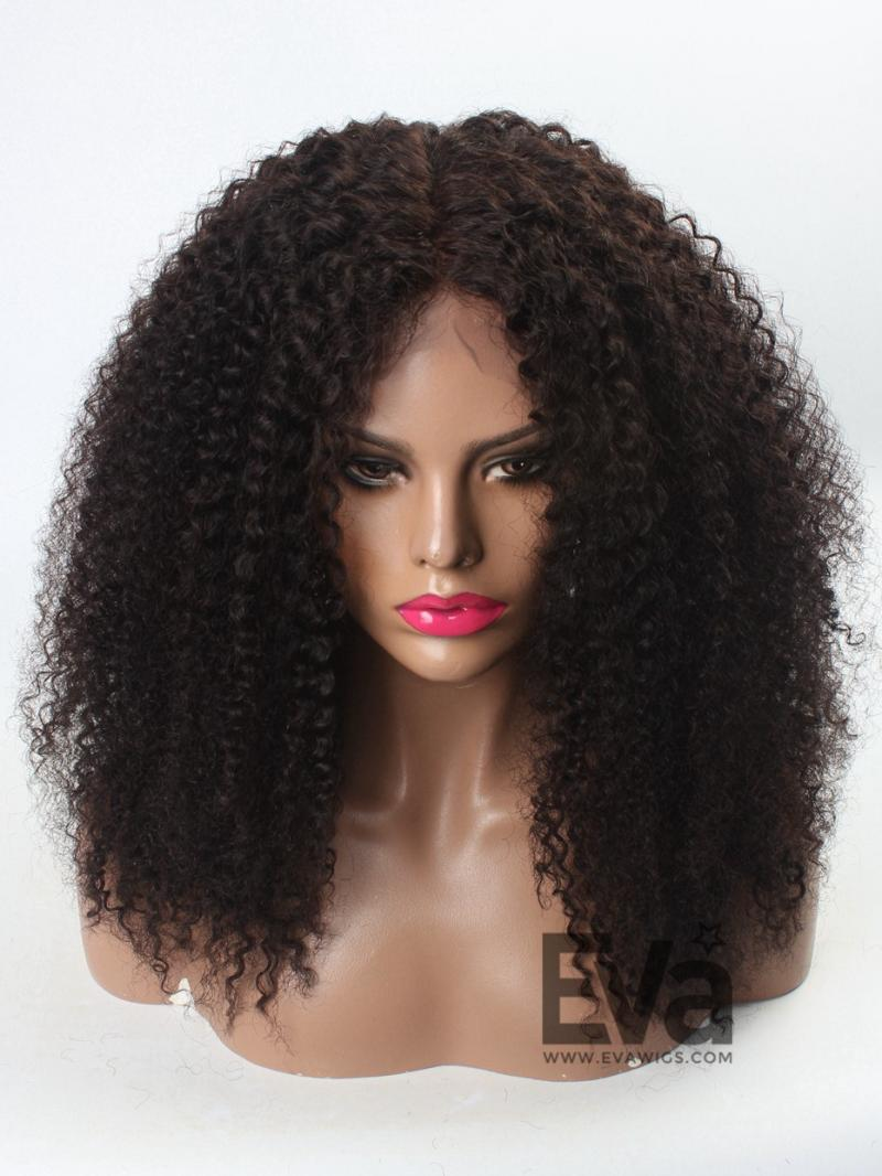12 Quot 22 Quot Natural Afro Curly Human Hair Full Lace Wig
