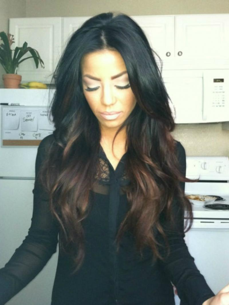 Hot Seller Celebrity Inspired Long Wavy Ombre Full Lace Virgin Human Hair Wig