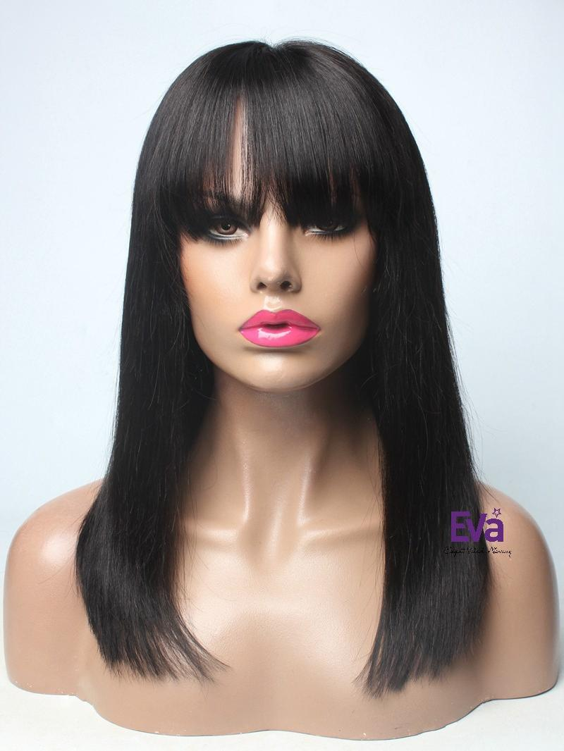 baby hair styles medium length bob human hair lace wig 4343