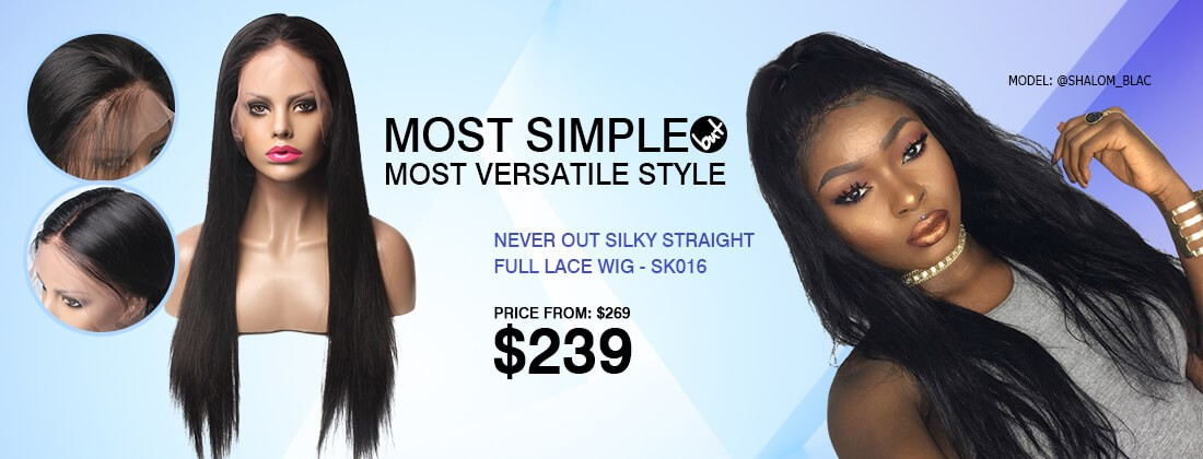 silky straight full lace wig in stock shipping out within 7 days
