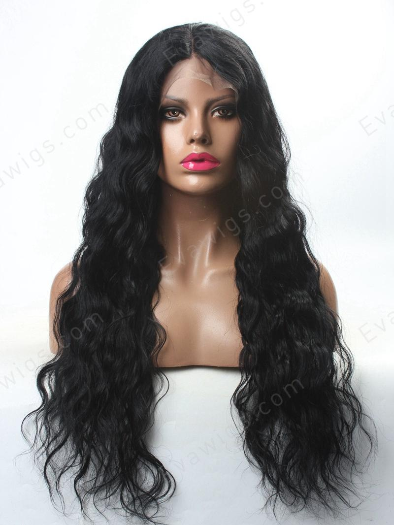 Stock Lace Front Kylie Jenner Inspired Long Wavy Lace Front Human Hair Wig