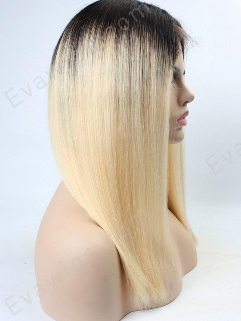 Custom Lace Front Blonde Color Straight Lace Front Human