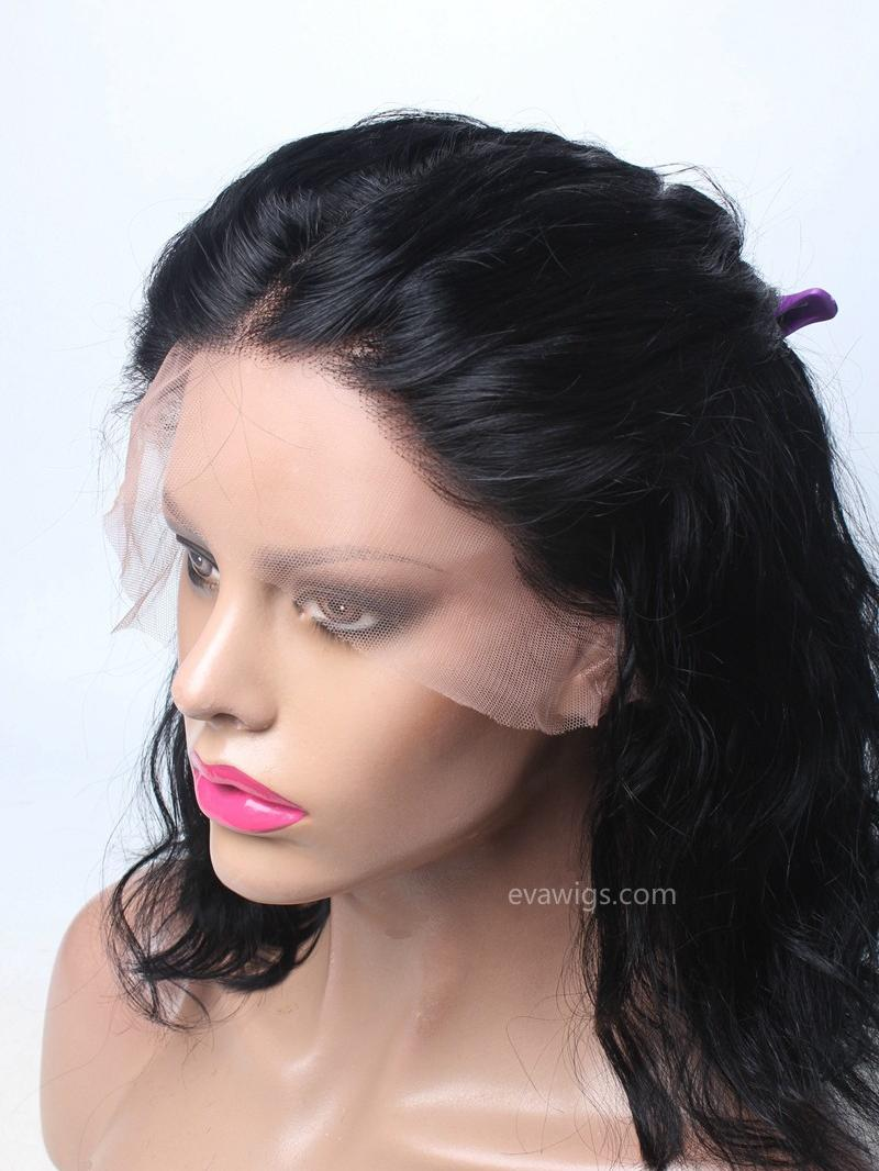 Medium Length Wavy Lob 100 High Quality Human Hair Full