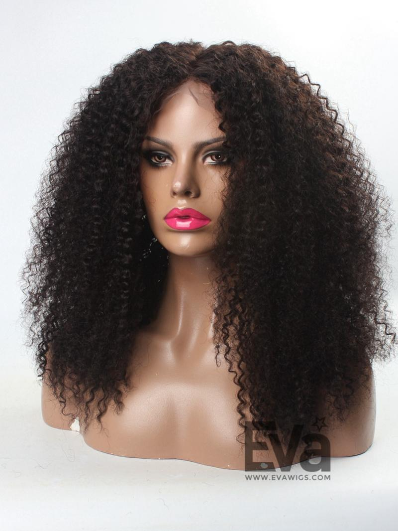3c Hair 12 22 Natural Afro Curly Human Hair Full Lace Wig