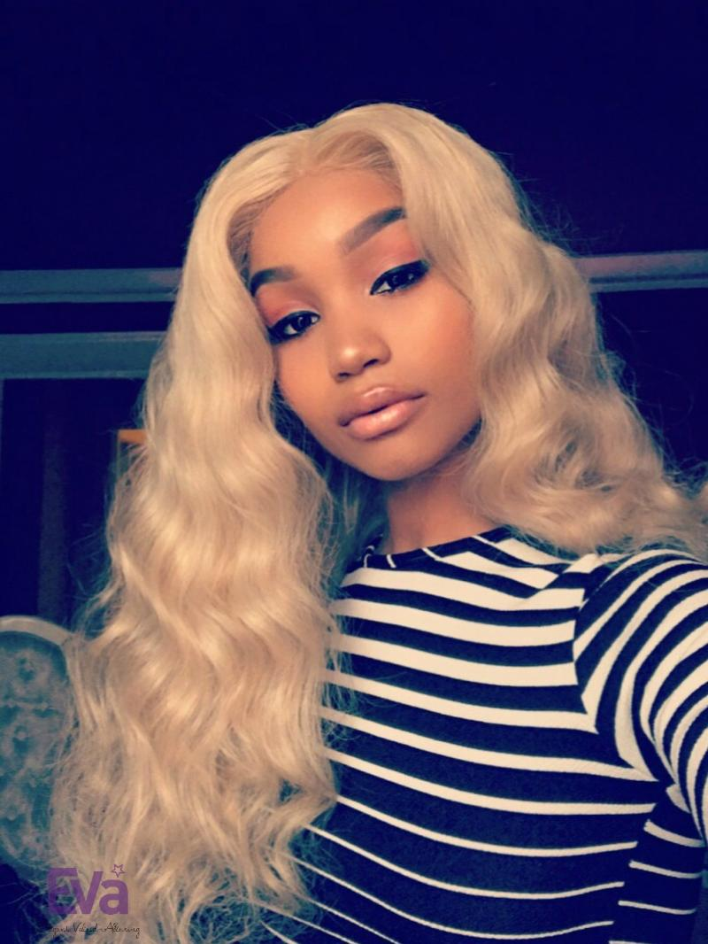 Custom Platinum Blonde Full Lace Virgin Human Hair Wig