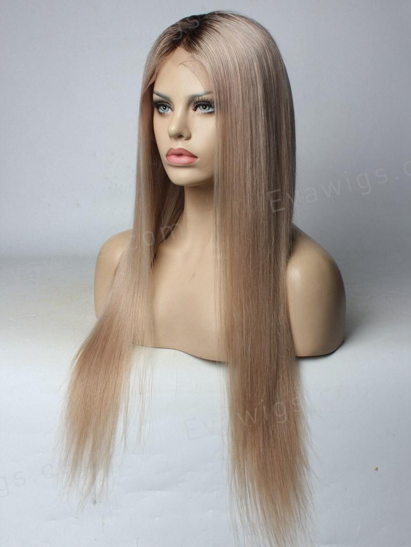 Custom Color  Ash Blonde Full Lace Human Hair Wig - Home - EvaWigs d44dc7c71347