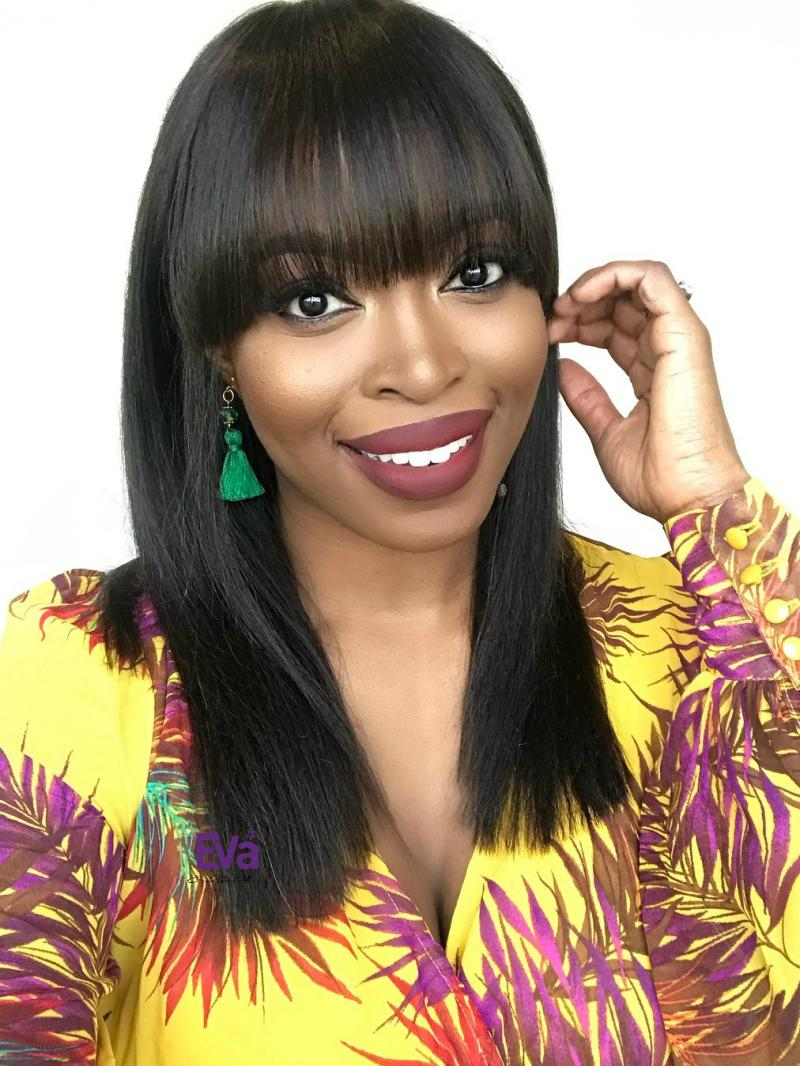 Mary - Medium Length Bob Virgin Human Hair Full Lace Wig with Bangs (In Stock)
