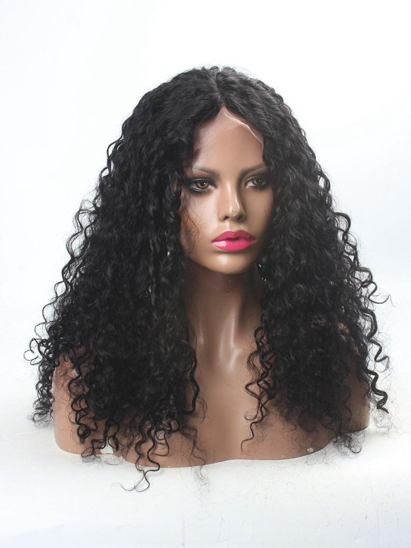 stock lace front deep wave human hair lace front wig