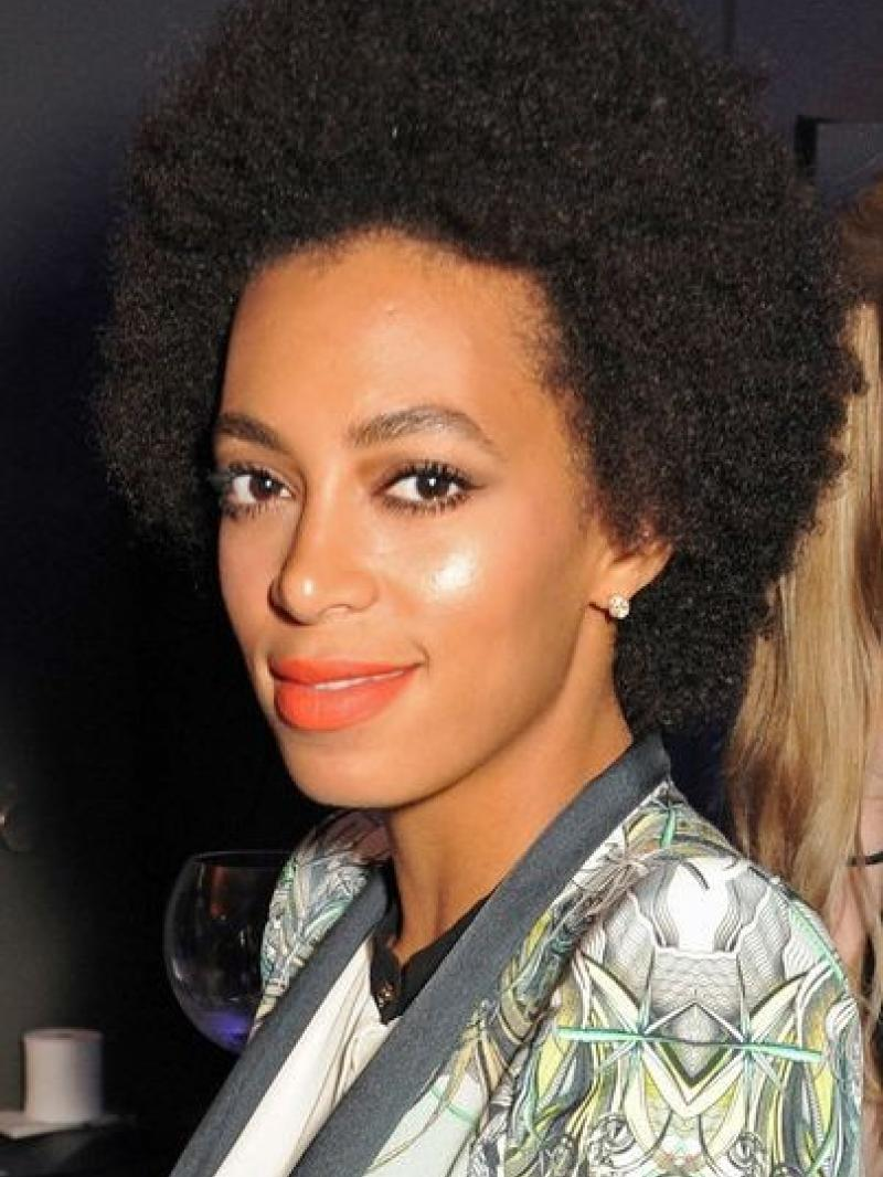 Solange Knowles Short Afro Curly Custom Full Lace Human