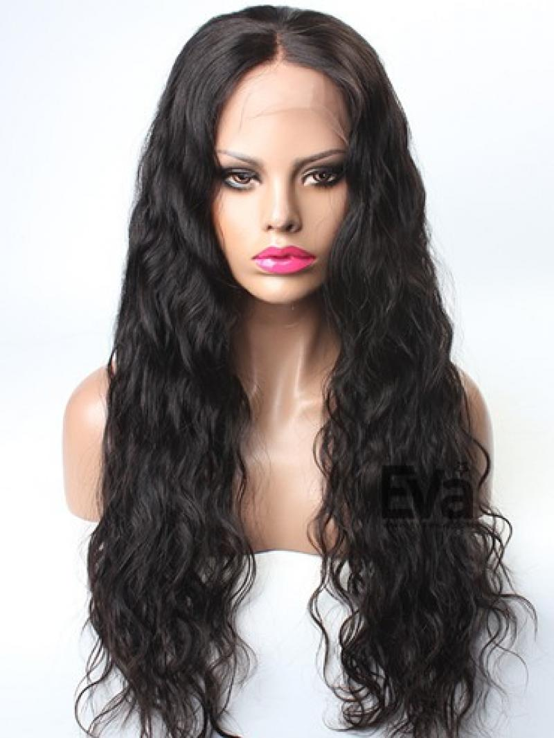 Goddess Body Wavy Custom Full Lace Human Hair Wig With