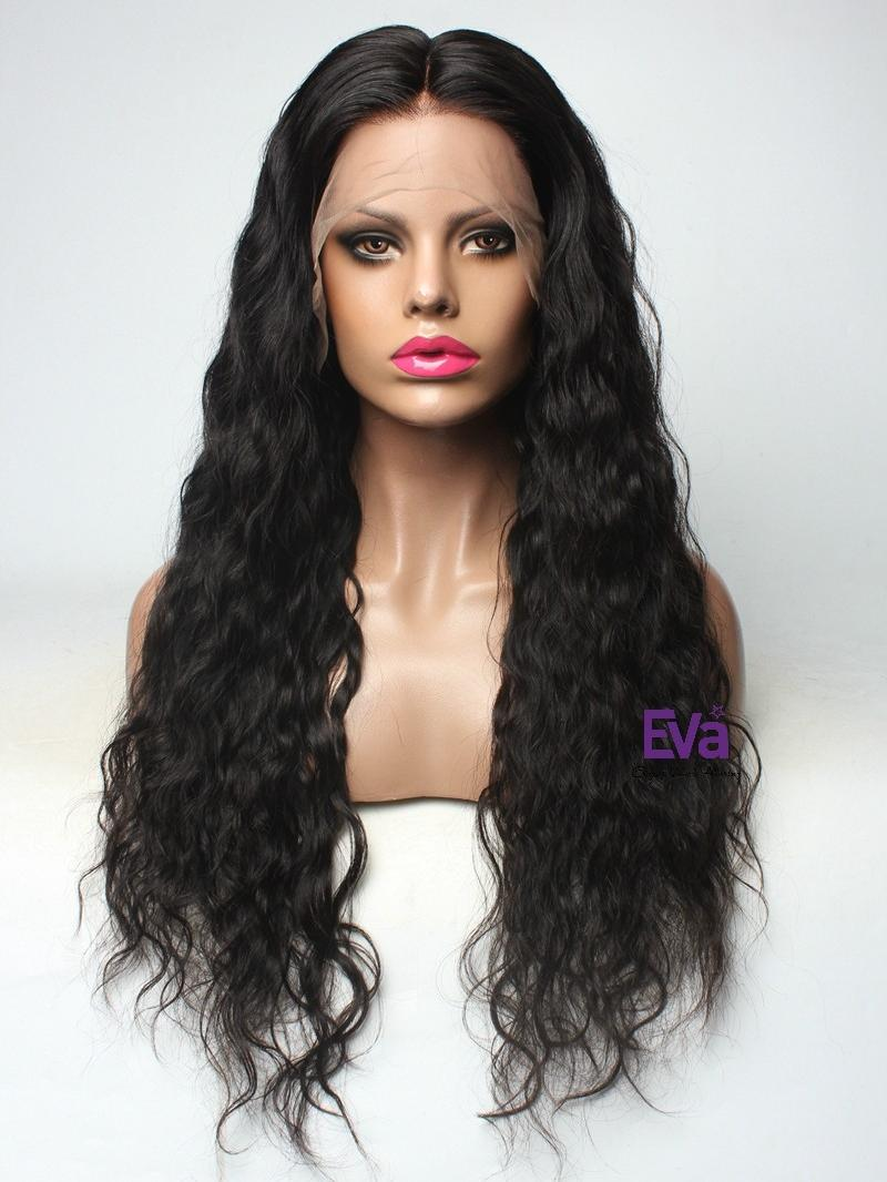 Goddess Body Wavy Custom Full Lace Human Hair Wig With Baby Hair ...