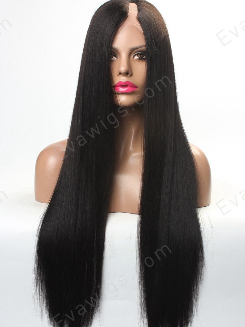 Custom Long Straight Silky Yaki U Part Full Lace Human
