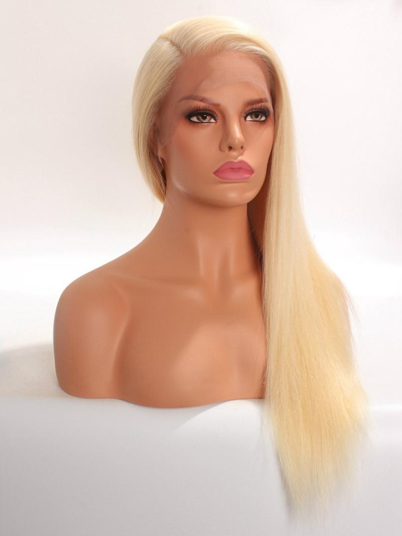 Ready to Ship CES209 #613 Platinum Blonde 100% Virgin Human Hair Full Lace Wig
