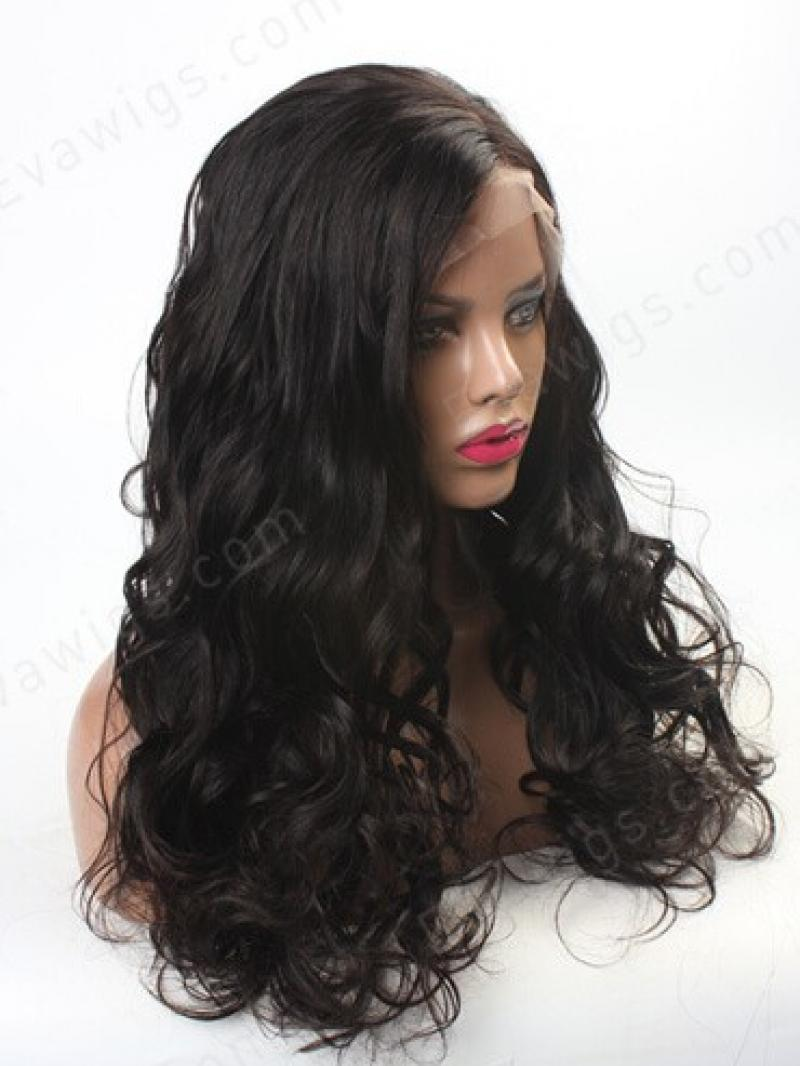 Stock Lace Front Big Wave Long Human Hair Lace Front Wig